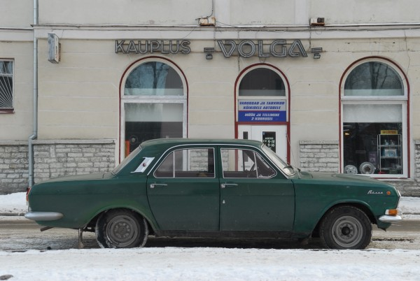 My Volga in front of the Volga store in Tallin, Estonia. Photo: Petter Lydén
